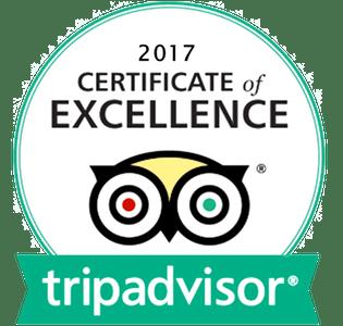 2017 certificate of excellence - Tripadvisor logo